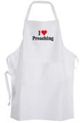 I Love Preaching – Adult Size Apron – Heart Preach Sermon Speak Preacher