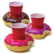 Generic Inflatable Pool Party Drink Floats Donuts Pack of 3