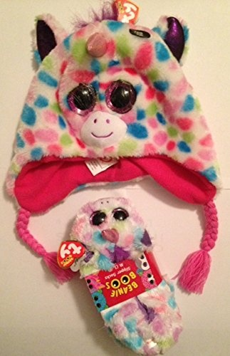 c391ed8c864 TY Girl s Beanie Boo Wishful Slippers and Hat Bundle by Unbranded ...