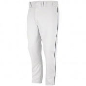 Majestic Men's Zipper Front Baseball Pant with Piping