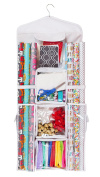 Double Sided Hanging Gift Wrap & Bag Organiser Storage