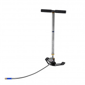 High Pressure Hand Pump 3 Stage Stirrup Charging Gas Filter Gauge Valve Hose PCP Pump,Up to 4500 psi