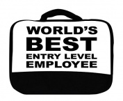World's Best Entry Level Employee Canvas Lunch Bag by Moonlight Printing