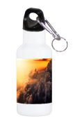 Sticker Skin Print Smoke Clouds Sunset Fire Blaze Yellow Flames Printed Design 590ml Stainless Water Bottle by Smarter Designs