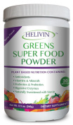 Helivin Greens Super Food Powder - Berry Flavour - Naturally Sweetened with Stevia - 250ml