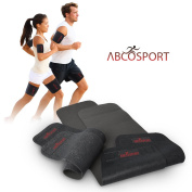 Body Wraps for Arms and Thighs - To Lose Fat & Reduce Cellulite - Best Adjustable Thigh and Arm Slimmers with Anti-Slip Grid Technology - Use Home or Street - Repels Sweat & Moisture - 4 Piece Kit.