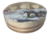 JapanBargain 5 Piece Mini Temaki Sushi Set Rice Paddle, Mat and Bowl