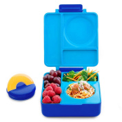 OmieBox Bento Lunch Box With Insulated Thermos for Kids, Blue Sky