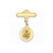 14k Saint Lucy Medal Pin