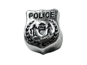 Zable Sterling Silver Police Badge  .   Bead / Charm