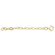 14K Yellow Gold Cable Chain Necklace Extender Clasp