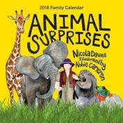 Animal Surprises Family Calendar 2018
