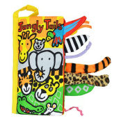 Malltop Soft Animal Jungly Tails Cloth Book Sets Baby Early Development Learning Education Toy 21cm x 11cm
