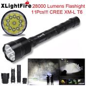 HANYI 6000- 34000 Lumens 4- 14x CREE XML T6 5 Mode 18650 Super Bright LED Flashlight XLightFire Extended Tactical Flashlight Waterproof LED Torch