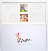 Baby Hand and Footprint Kit by Bubbleliss. Safe and Easy To Use. Great Baby Gift Present