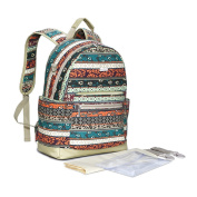 Fashion Multifunctional High Capacity Baby Nappy Nappy Changing Bag Mommy Backpack Canvas Bag