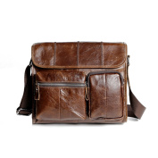The Ninth Day Genuine Leather Casual Retro Messenger Shoulder Bags For Men & Women, Brown Crossbody Classic Satchel Bag