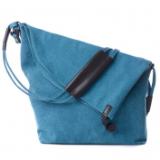 Umily ashion Bag Unisex School Satchel Vintage Bucket Daypack Crossbody Tote Messenger Bags-Blue
