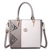 Miss LuLu Women Fashion Faux Leather Square Tote Shoulder Handbags Messenger Satchel Bags