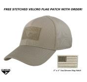 Condor Flex Tactical Cap (Tan) + FREE Stitched Hook and loop Flag & Patch