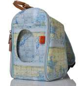 PacaPod Designer Limited Edition Map Print Feeder Pod- Luxury Baby and Toddler Cool Bag With Backpack Straps