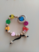 Handmade Wooden Teether Eco Baby Teething Baby Shower Gift Teether Baby Bracelet Rattle Baby Teether Toys
