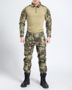 New Series Commando Camouflage Frog Suits Camouflage Pants Tactical Soft Breathe Freely Wear-resisting Jacket+Trousers Jungle Camouflage Army Uniform
