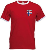 Norway Norge Norwegian Soccer Football Shield Crest T-Shirt Jersey
