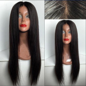 Fureya Hair 8A Unprocessed Peruvian Vogue Middle Part Straight Lace Front Human Hair Wigs with Baby Hair 180% Density Glueless lace Wigs for Black Women
