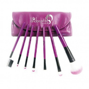 London Pride Make-Up Brush Set, Purple, 7-Piece