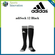 Adidas 3 stripe Rugby Sock Black and White L