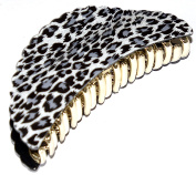 EXQUISITE AND FASHIONABLE LARGE SNOW LEOPARD FRENCH HAIR CLAW CLAMP