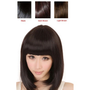 Womens Wig,Clode® Fashion Popular Ladies Girls Short Straight Full Bangs BOBO Hair Wigs with Black,Brown for Party Costume