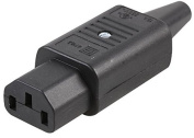 Pike & Co.® REWIREABLE IEC SOCKET - STRAIGHT [Pack Size