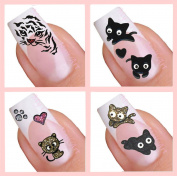 Adhesive Nail Art Stickers Set - Cat Collection (093,025,048,085) by www.nailartuk.co.uk