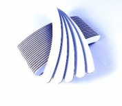 20 White Banana Nail Files 100/180 + 5 Free