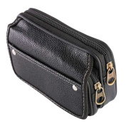 ECYC Men Casual PU Leather Wallet Credit Card Holder Mini Small Pockets Purse Waist Bags Travel Pouch