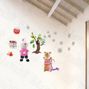Rabbit & Bear - Wall Decals Stickers Appliques Home Decor