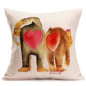 GBSELL Happy Valentine's Day Pillow Case Throw Cushion Cover Sofa Home Car Party Decor