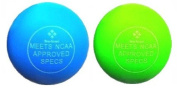 2 X LACROSSE BALLS FOR TRIGGER POINT MASSAGE- Fine- Toned® plus MASSAGE EXERCISE INSTRUCTIONS CHART crossfit, rehab, physiotherapy - meets full NCAA specifications