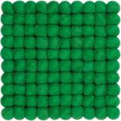 myfelt Felt Ball Coaster - French - 20 x 20 cm, Green