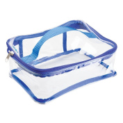 InterDesign Nya Travel Accessories Bag for Personal Care/Beauty Products/Cosmetics/Toys/Art Supplies/Beach, Clear/Navy