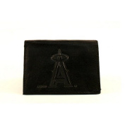 MLB Officially Licenced Genuine Leather Tri-Fold Wallet -Black
