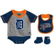 Detroit Tigers 3pc Creeper Bib Booties Set Infant Baby Little Player