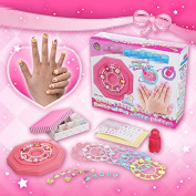 EQLEF® Girl Nail Stickers DIY Kids Toys For Children PVC Manicure Sticker For Nail Make Up Set Girl's Jewellery Birthday Xmas Gift Toys