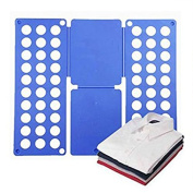 Rechoo Adjustable Magic Fast Speed Clothes T-Shirt Folder Organiser Flip Fold for Children, Kids £¨Blue£©
