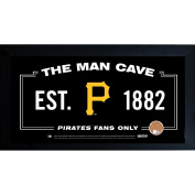 MLB Man Cave Framed 10x20 Sign w/ Authentic Game-Used Dirt