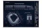 Oriole Park at Camden Yards Blueprint Style Print
