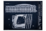 Safeco Field - Blueprint Style Print
