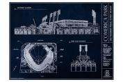 Comerica Park Blueprint Style Poster